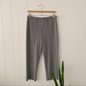 Vintage Houndstooth Cropped Pants
